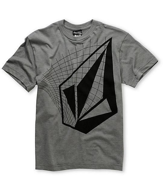 Volcom Grind Stone Boys Grey T-Shirt