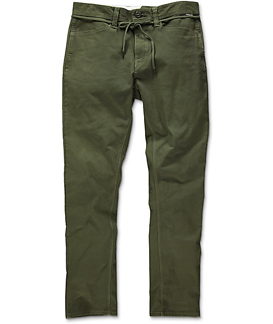Volcom Gritter Military Green Chino Pants