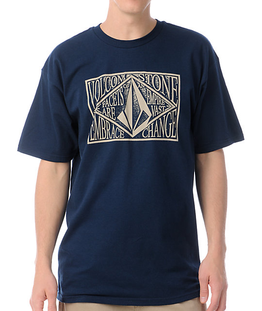 Volcom Hang Tag Navy T-Shirt