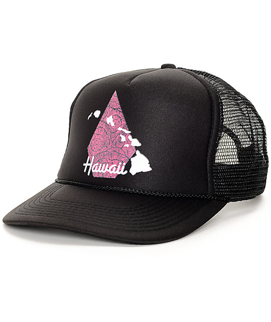 Volcom Hawaii Tropical Black Trucker Hat