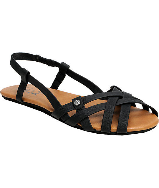 Volcom Heavenly Creedlers Black Sandals