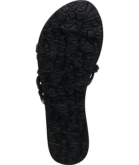 Volcom Here To Stay Black Creedler Sandals