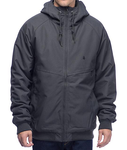 Volcom Hernan Grey Insulated Bomber Jacket