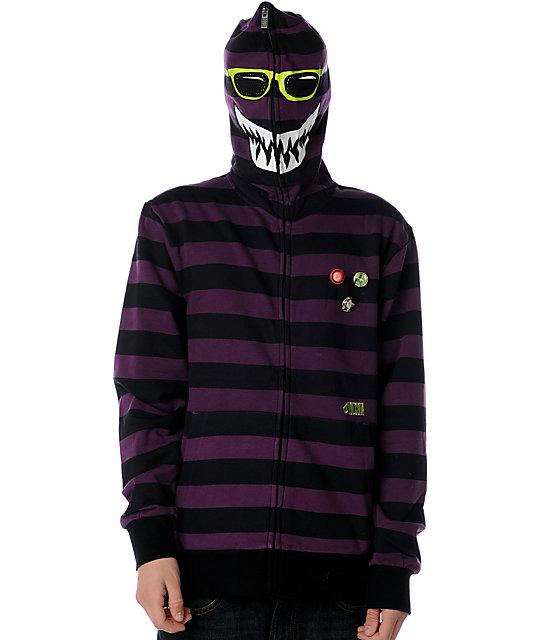Volcom Highwear Stripe Purple Hoodie