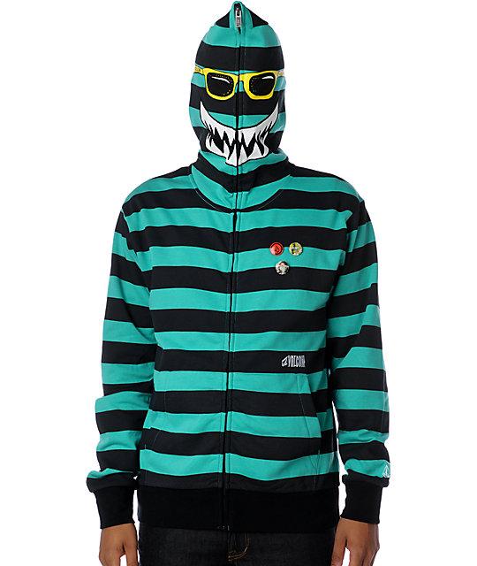 Volcom Highwear Stripe Teal Hoodie