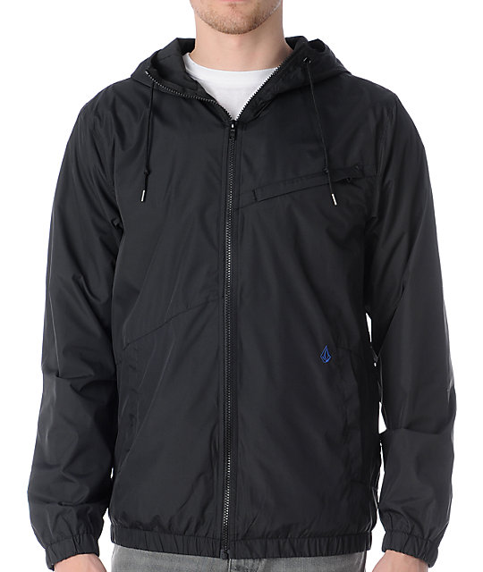 Volcom Jagger Black Windbreaker Jacket