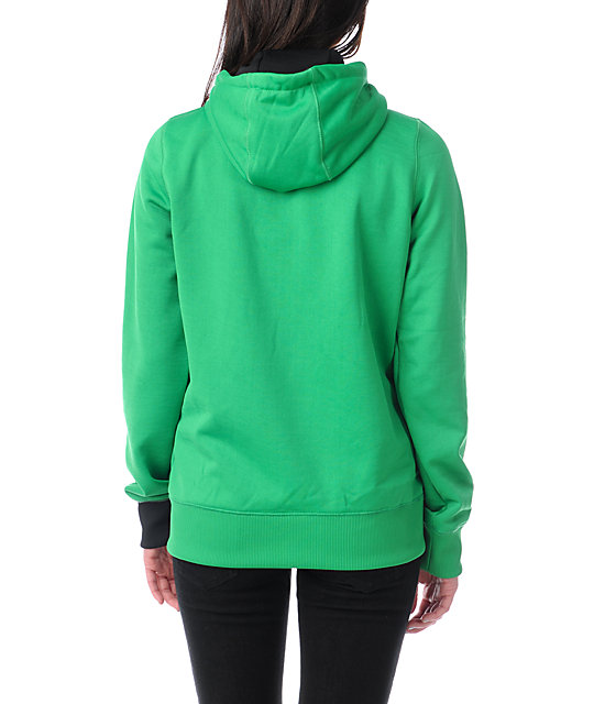 Volcom Jubaea Green Full Zip Tech Fleece Jacket