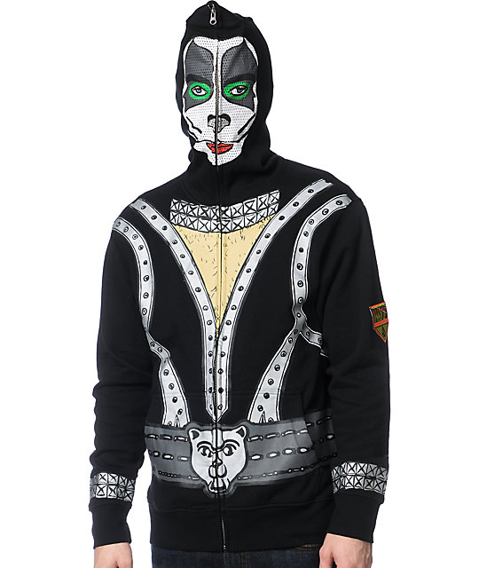 Volcom Kiss Zip Up Eric Singer Face Mask Hoodie