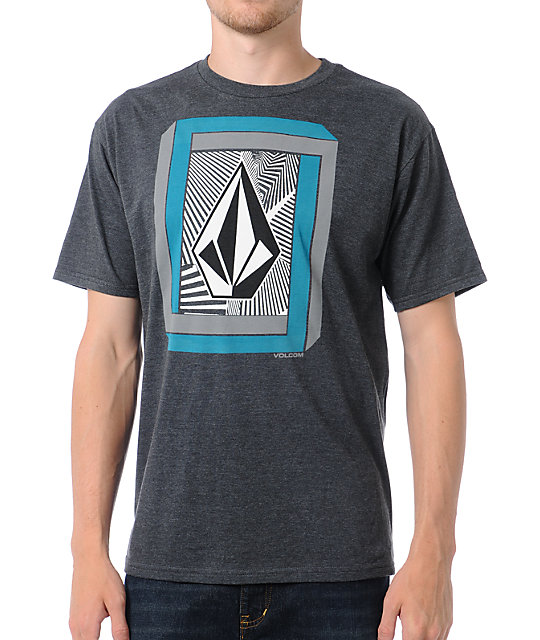 Volcom Laced Up Charcoal T-Shirt