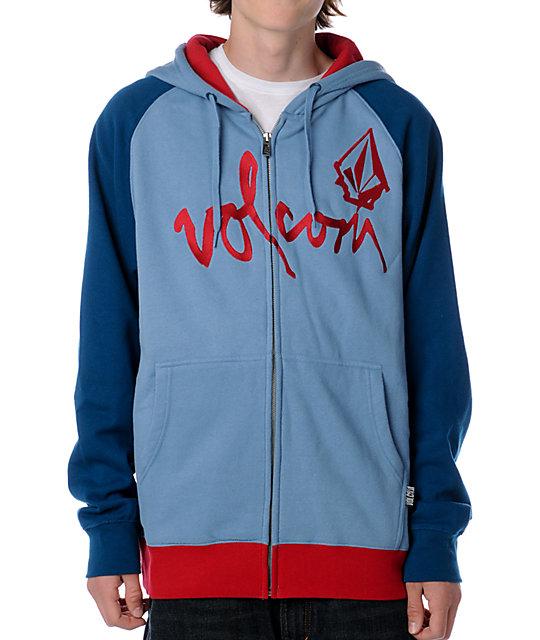 Volcom Left Field Blue Hoodie