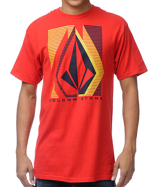 Volcom Lines Red T-Shirt