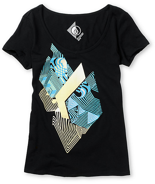 Volcom Litterstone Black V-Neck T-Shirt