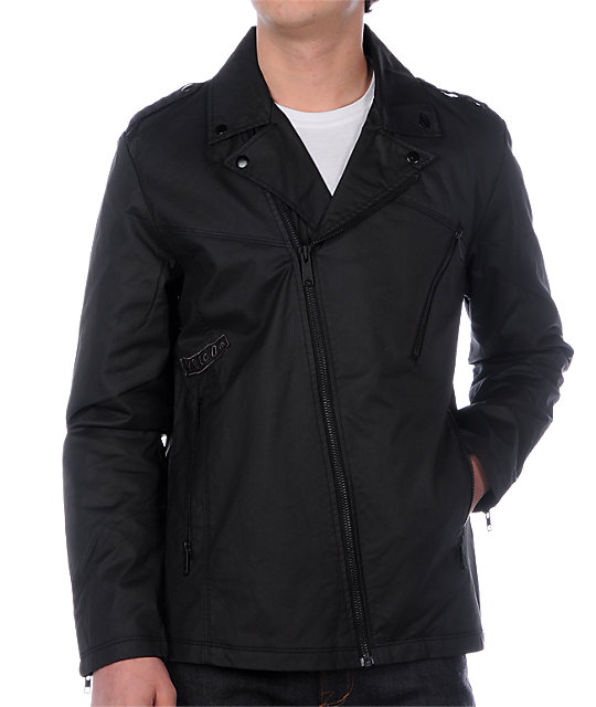 Volcom Liverpool Black Waxed Jacket