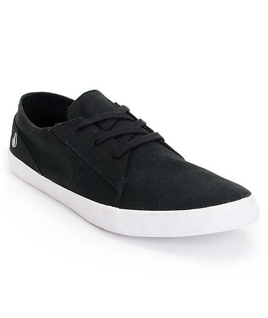 volcom lo fi black white canvas shoes