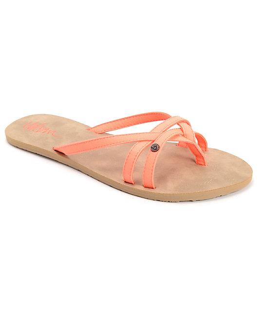 Volcom Lookout Neon Orange Sandals