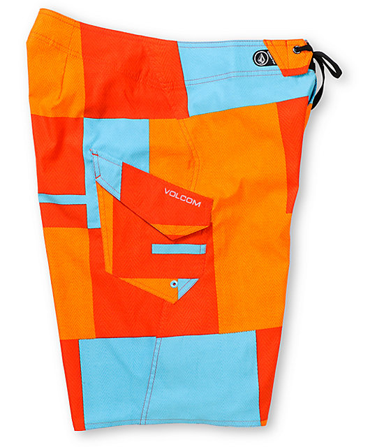 Volcom Maguro Blocks Orange 22 Board Shorts