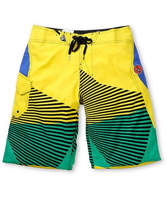 Volcom Maguro Fun Yellow 22 Board Shorts