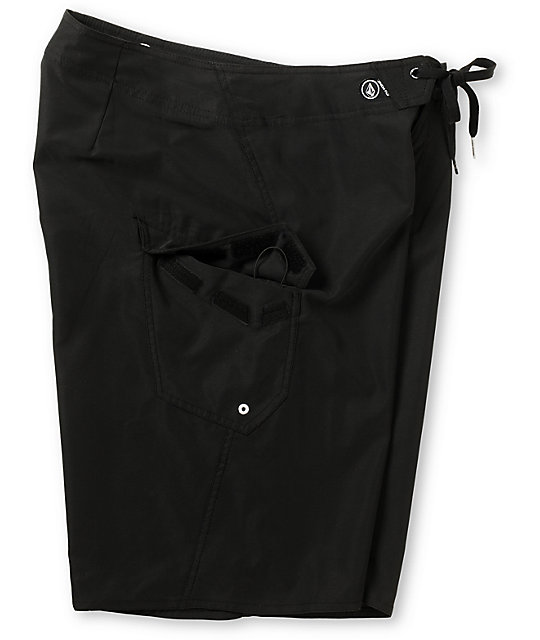Volcom Maguro Solid Black 22 Board Shorts