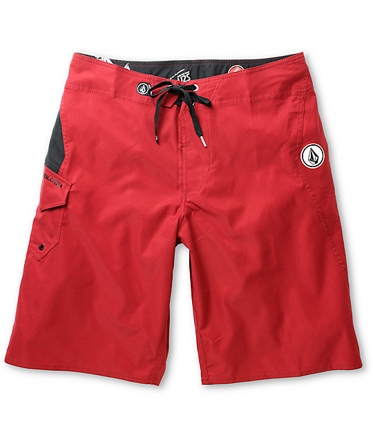 Volcom Maguro Solid Burgundy 22 Board Shorts