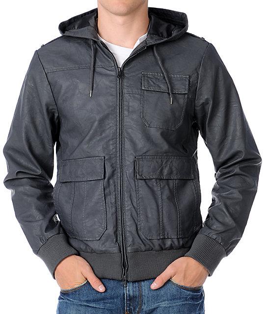 Volcom Mens Armalite Faux Leather Jacket