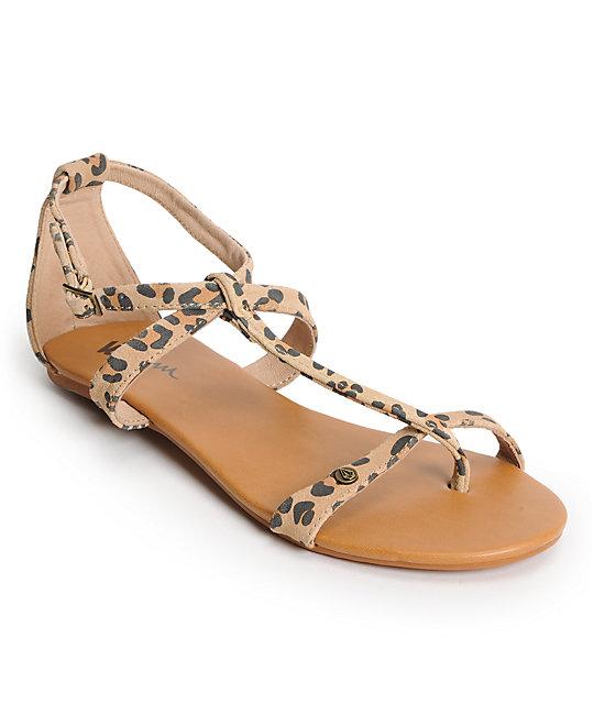Volcom Metropolis Leopard Print Creedler Sandals