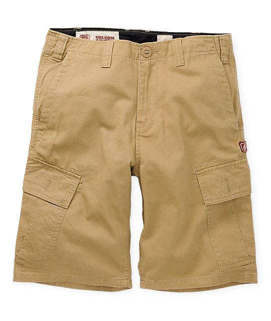 Volcom Mission Khaki Cargo Shorts