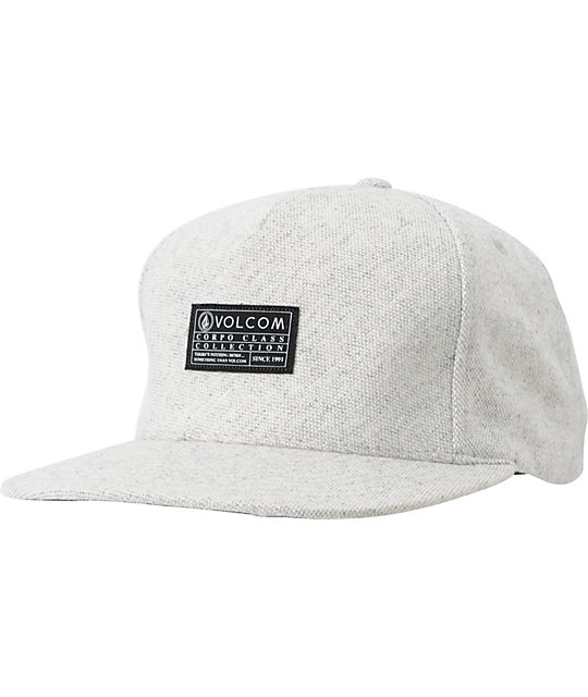 Volcom Mixer Grey Snapback Hat