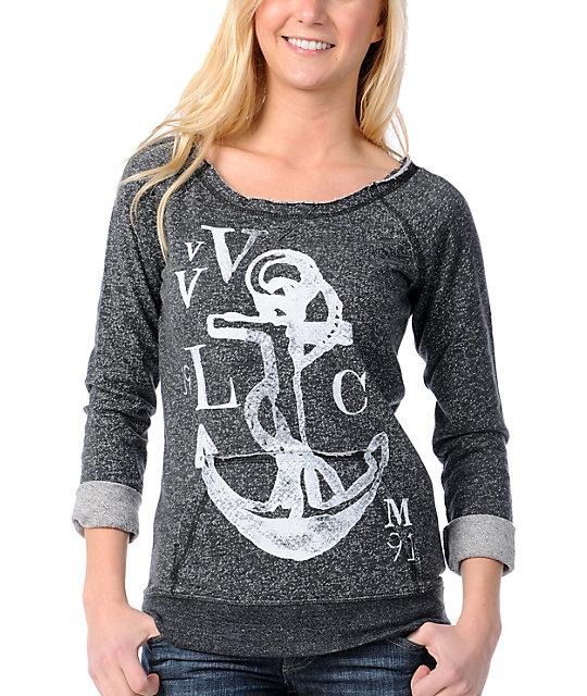 Volcom Moclov Anchor Heather Black Sweatshirt
