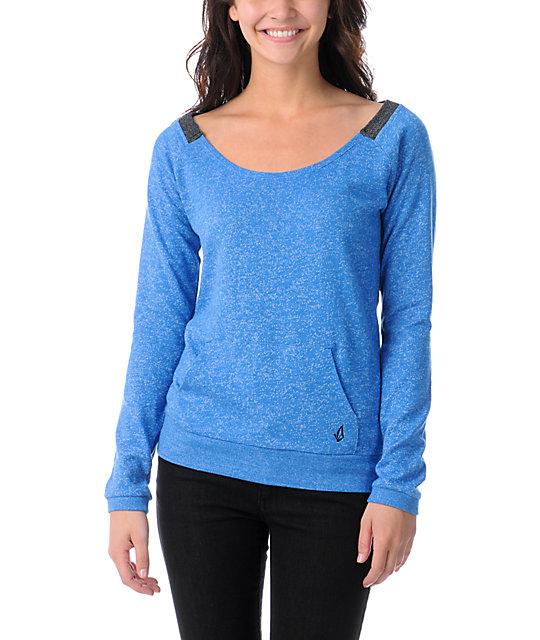 Volcom Moclov Bold Blue Crew Neck Sweatshirt