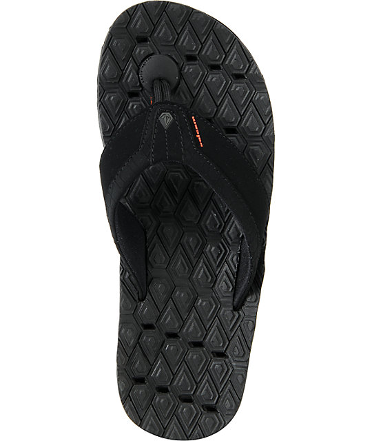 Volcom Modtech Drain Creedler Black Sandals