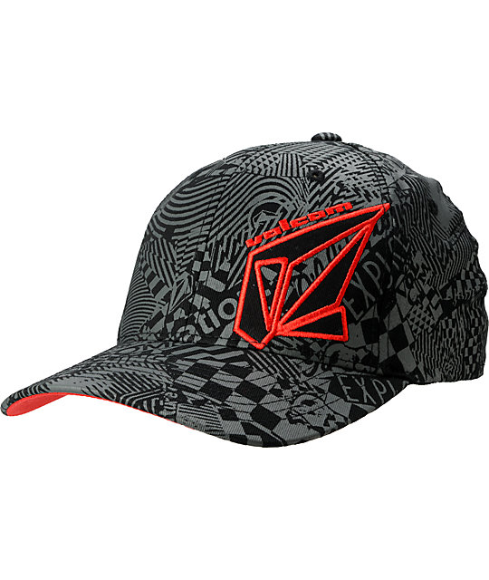 Volcom Modulator Black & Red Hat