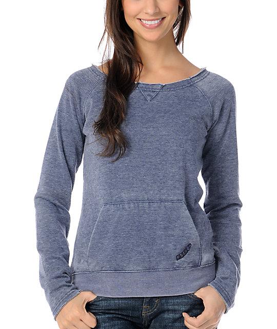 Volcom Navy Blue Pullover Sweatshirt