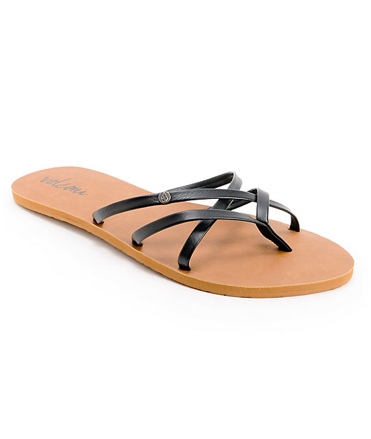 Volcom New School Black Creedler Sandals