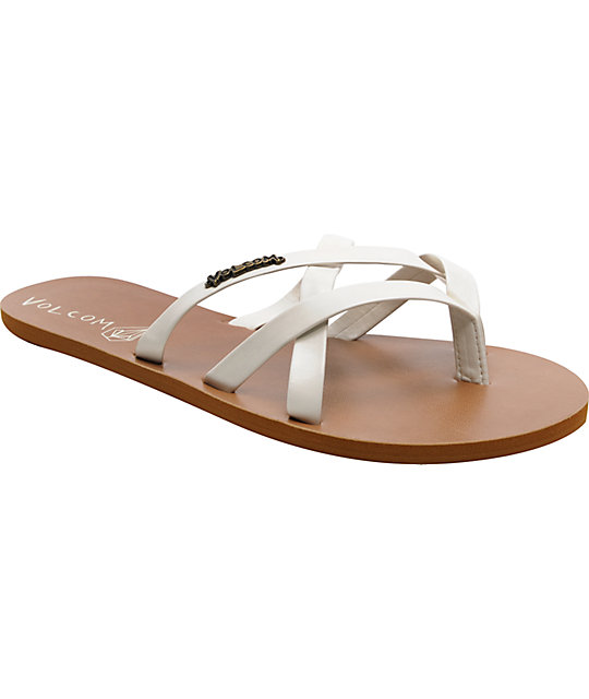Volcom New School White Creedler Sandals