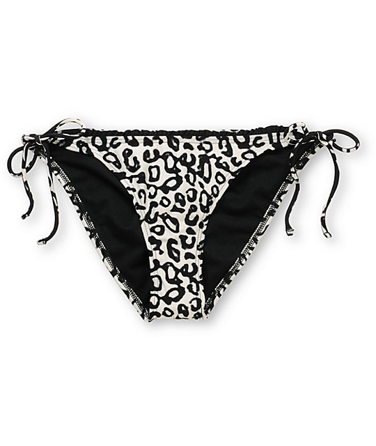 Volcom Night Tropics Cheetah Tie Side Bikini Bottom