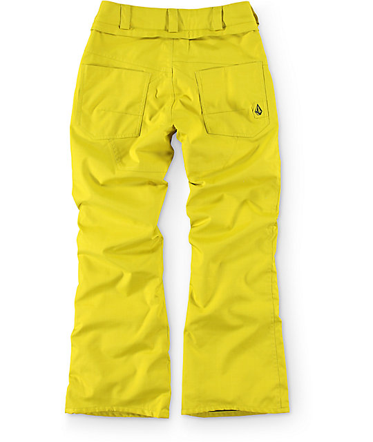 Volcom Nova Boys Insulated Citronelle Green Snowboard Pants