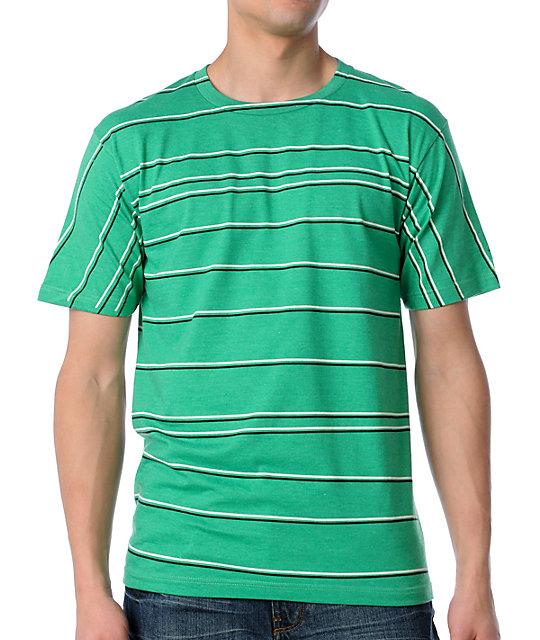 Volcom Off Stripe Green T-Shirt