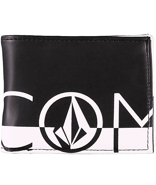 Volcom One Two Three White & Black Bi-Fold Wallet