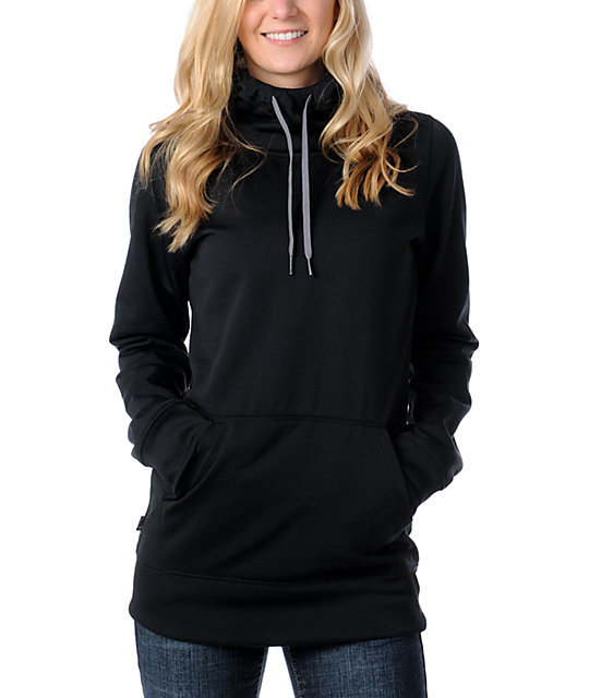 Volcom Paris Tech Fleece Jacket Black Pullover Hoodie