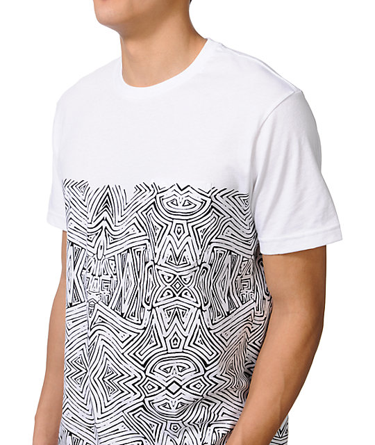 Volcom Pattern Nation White Pocket T-Shirt