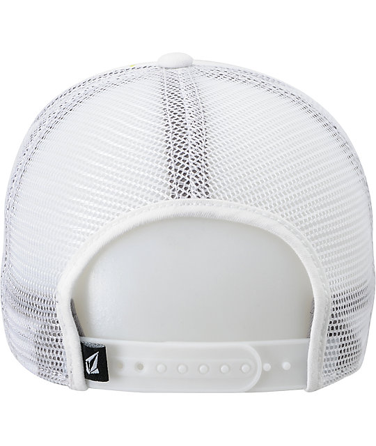 Volcom Peace Off Cheese White Snapback Hat