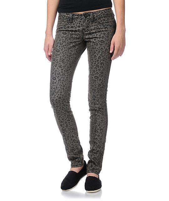 Volcom Pistol Animal Print Skinny Jeans