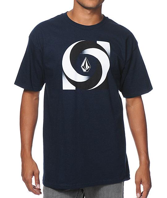 Volcom Poptimism Navy T-Shirt