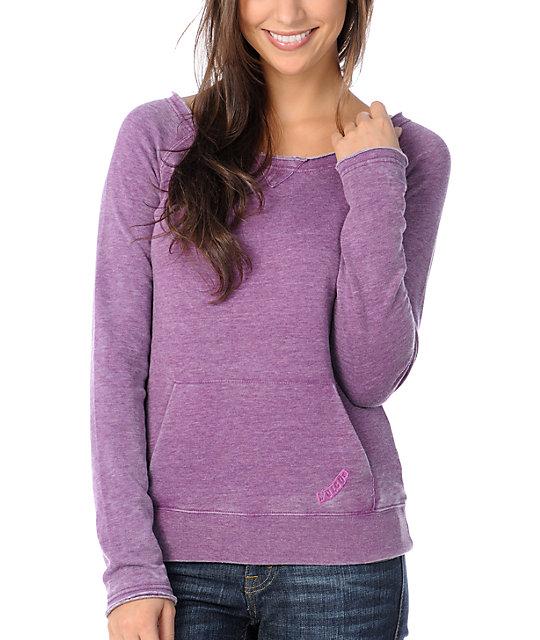 Volcom Purple Pullover Sweatshirt