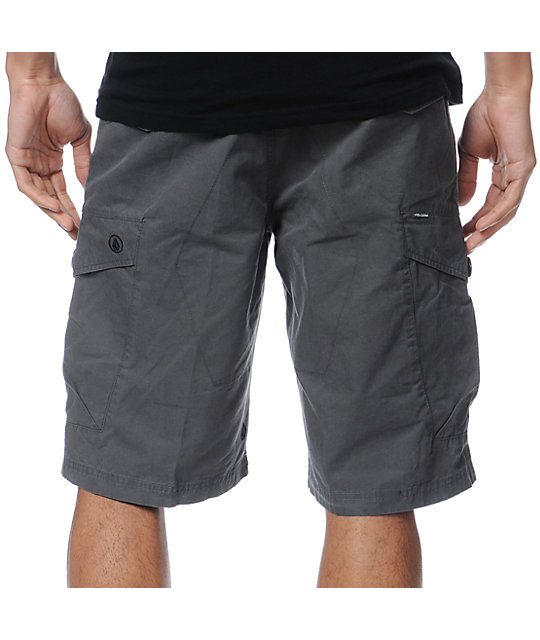 Volcom Racket Green Cargo Shorts