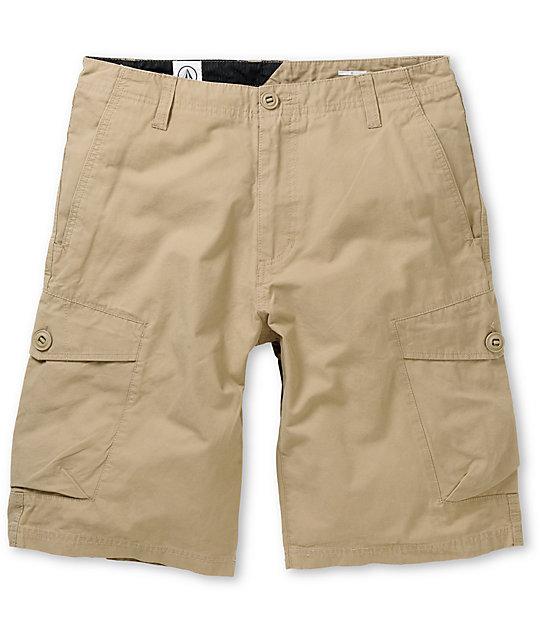 Volcom Racket Khaki Cargo Shorts