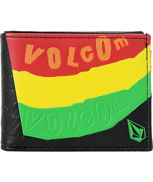 Volcom Ras Bifold Rasta & Black Wallet