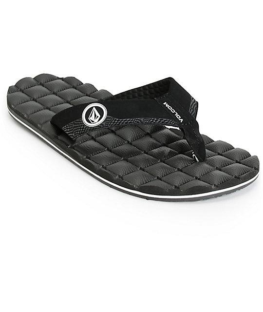 Volcom Recliner Black & White Sandals