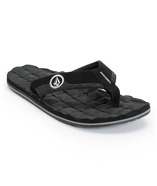 Volcom Recliner Black Sandals