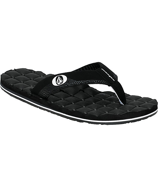 Volcom Recliner Creedler Black Sandals
